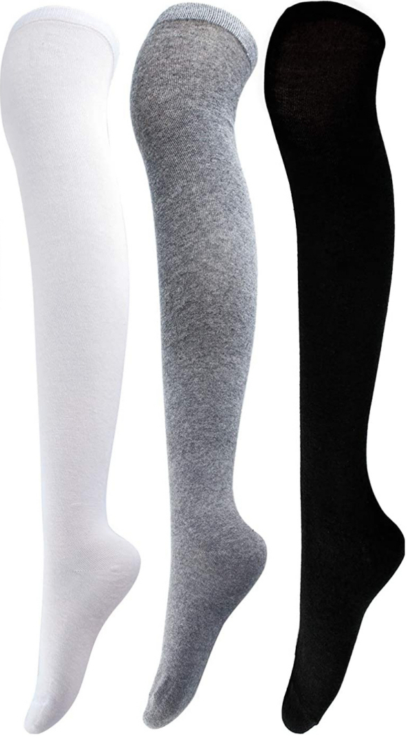 L4M 1015 Opaque Cotton Thigh-highs