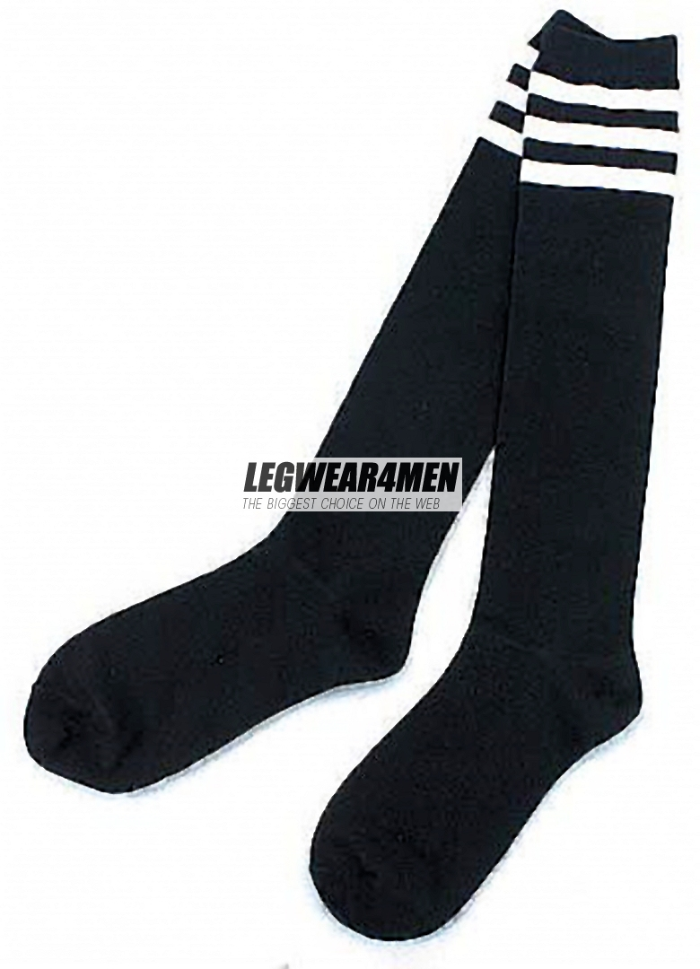 L4M 1050 3-stripe Cotton Over-the-Knee Socks