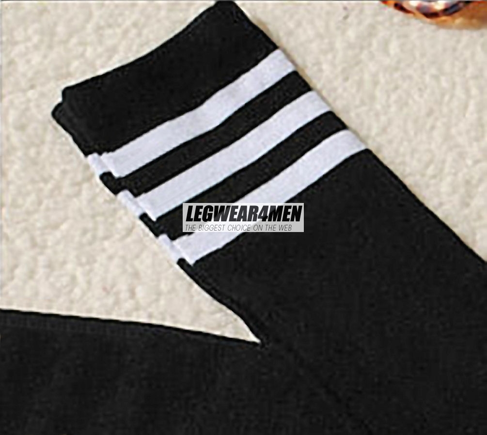 L4M 1050 3-stripe Cotton Over-the-Knee Socks - Click Image to Close