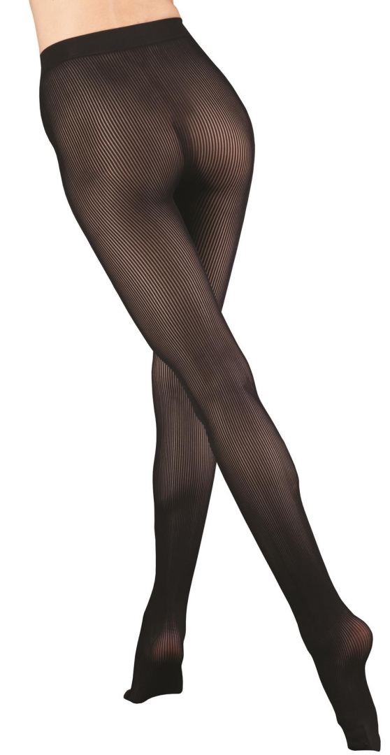 L4M 423 Ribbed Seamless Opaque Tights