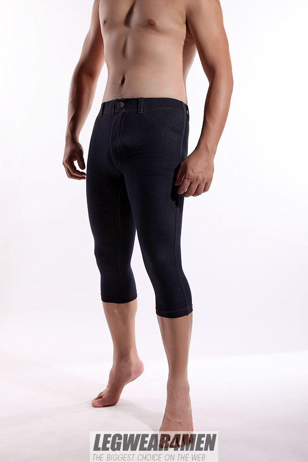L4M 650 Men's 'Denim-look' Capri Leggings