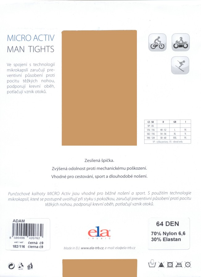 ELA Adam 64 Men's Opaque Tights