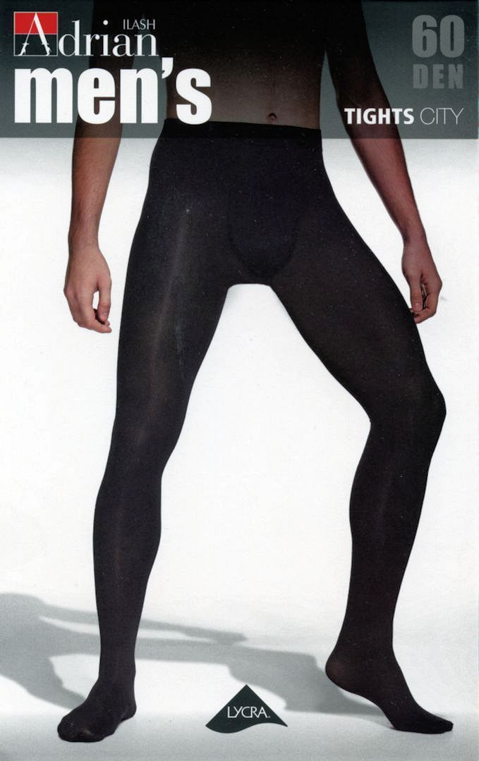 Adrian 'City' 60 Denier Sheer-to-waist Opaque Tights for Men