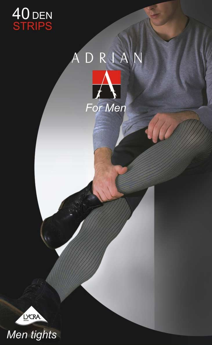 Adrian 'Stripes' Patterned Opaque Men's Tights