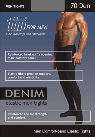 TIM Denim 70 Men's Opaque Tights