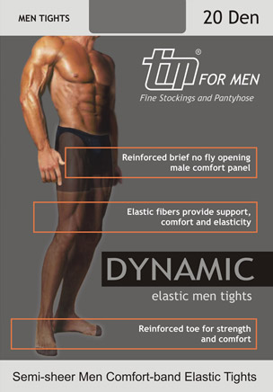 TIM Dynamic 20 Men's Sheer Tights