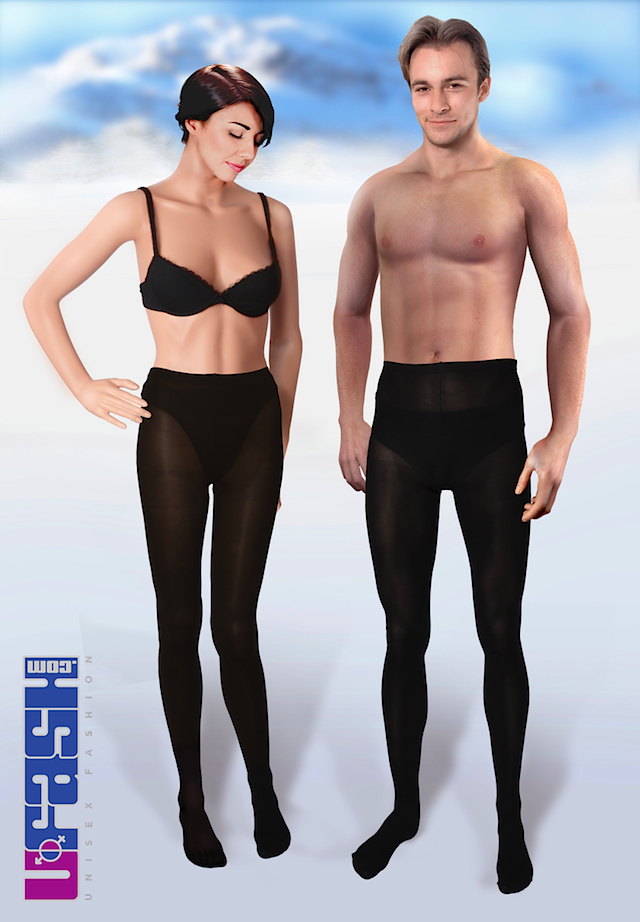 UFASH 'Anna & Andy' Opaque Unisex Tights