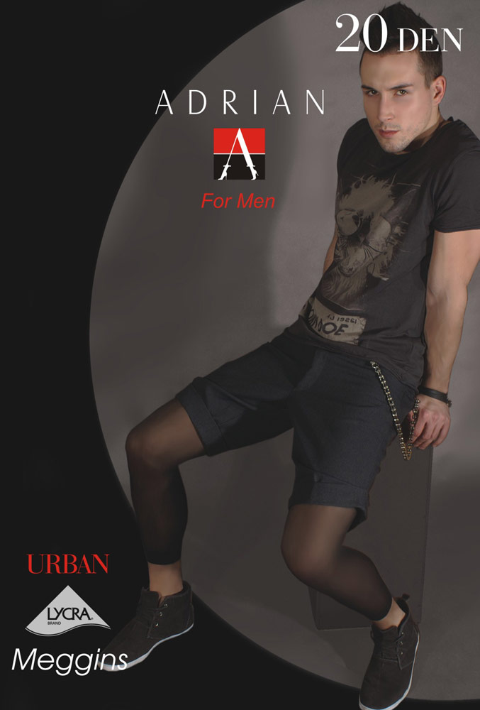 Adrian 'Urban' 20 Denier Sheer Footless Tights for Men